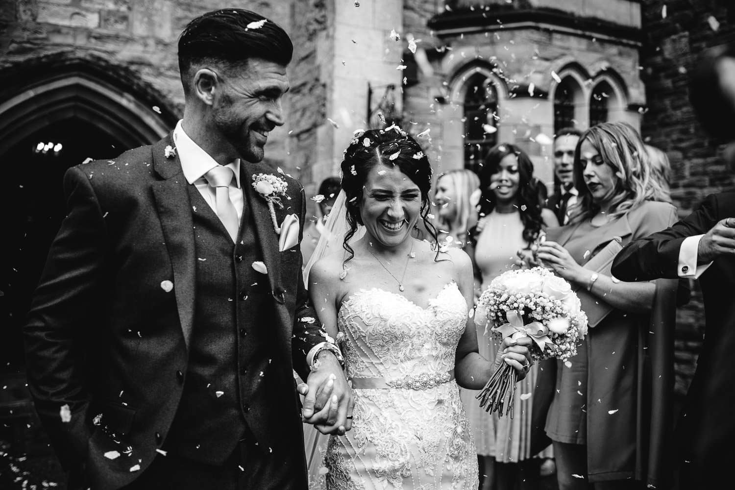 confetti photograph at the Alverton Hotel