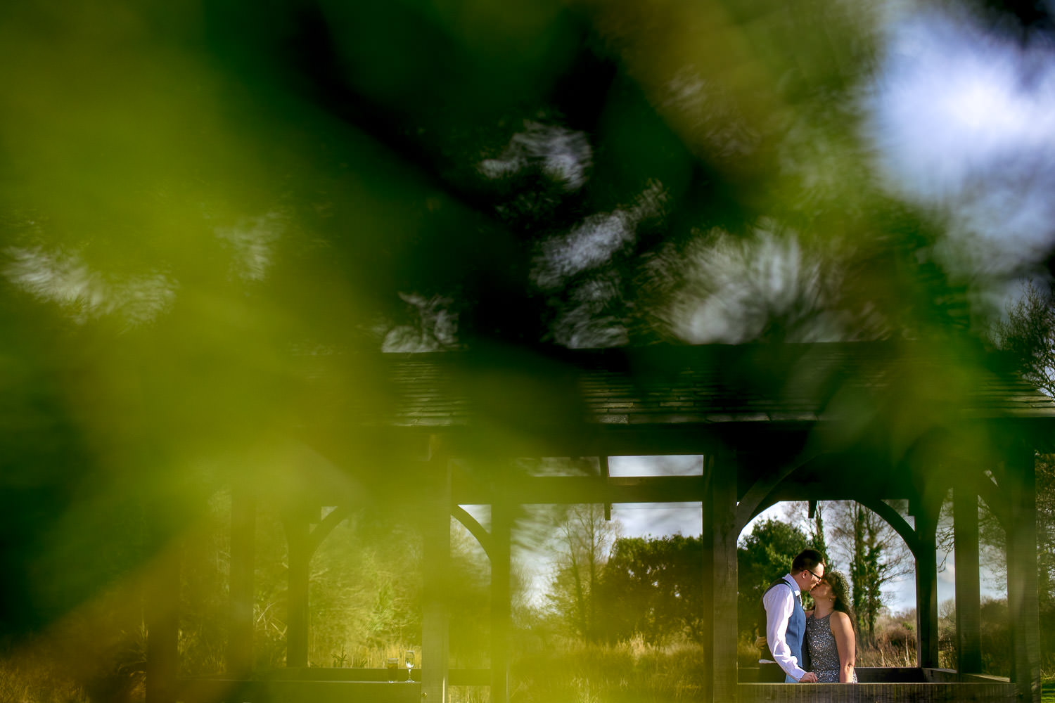 bride and groom portrait at Knightor Winery