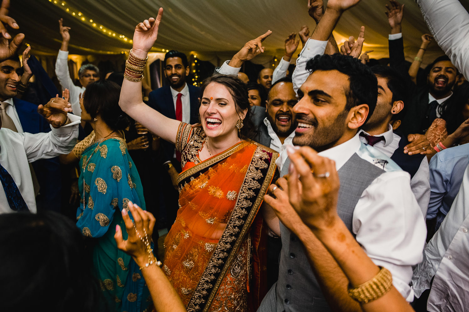 Indian wedding reception in Cornwall