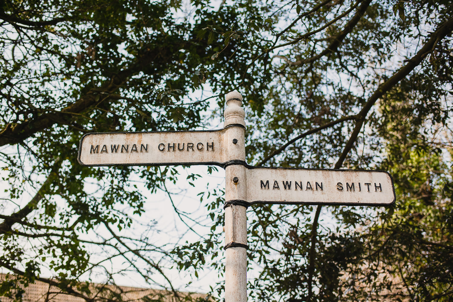 Mawnan Church road sign