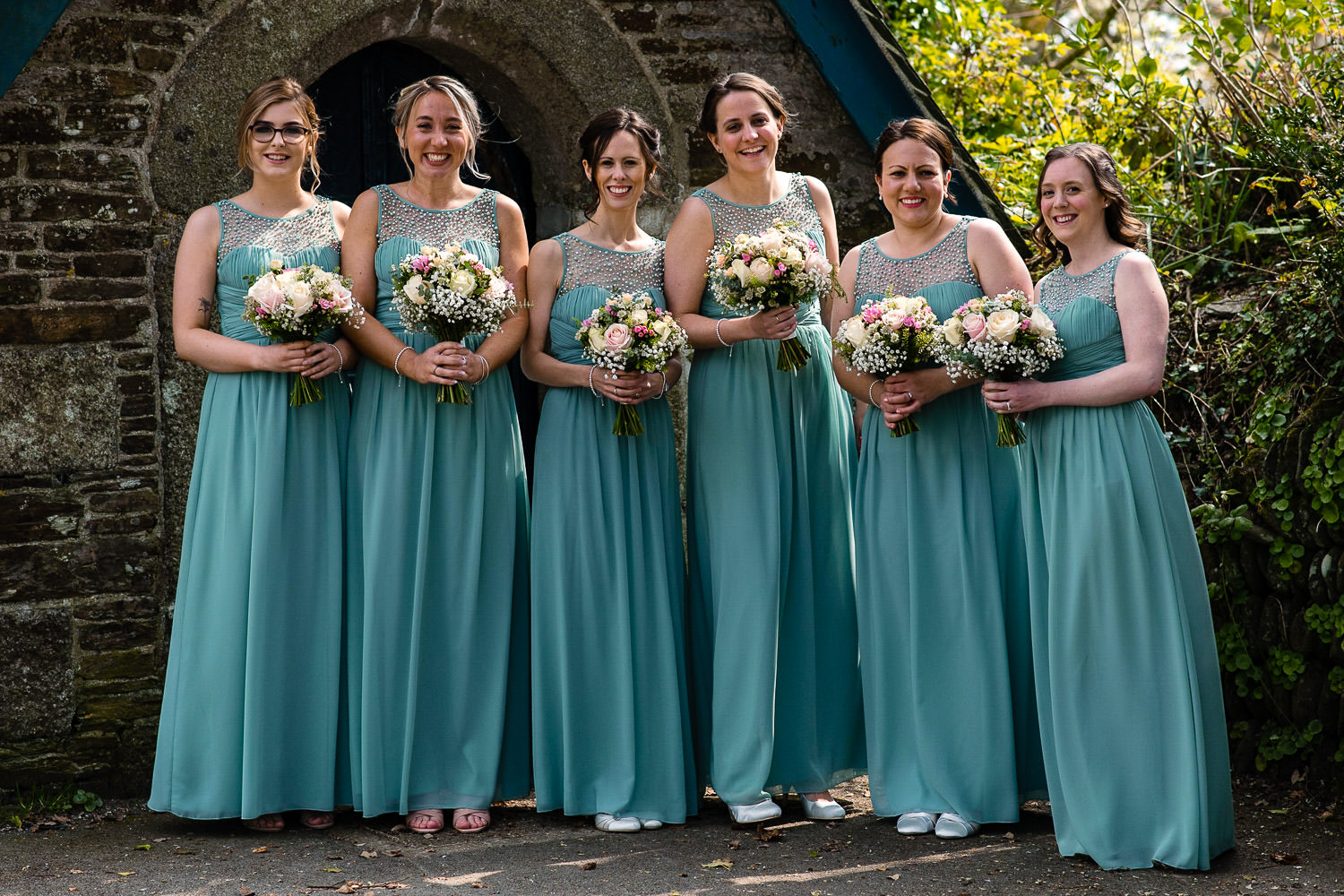 Bridesmaids at Mawnan Church