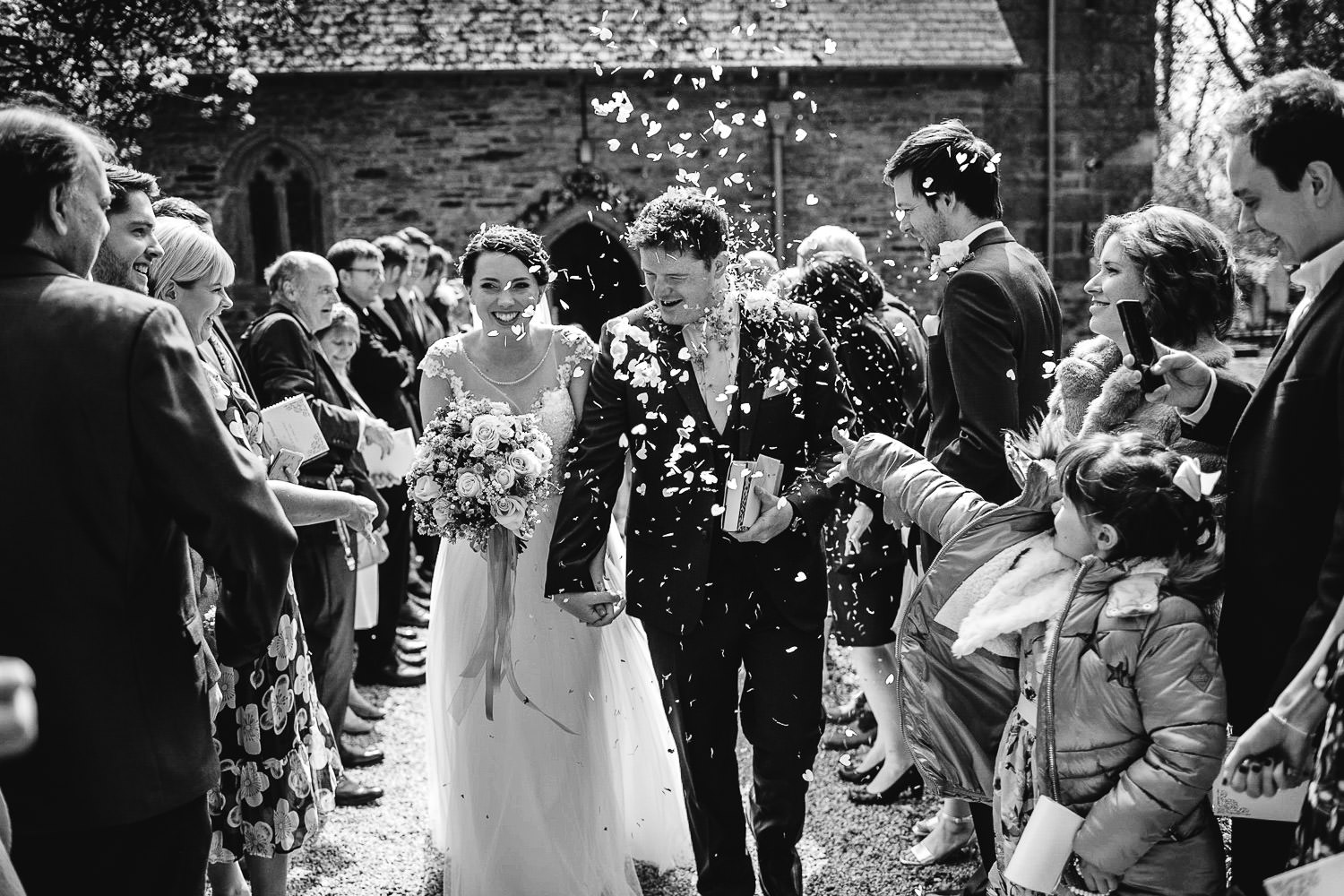 Confetti at Mawnan Church