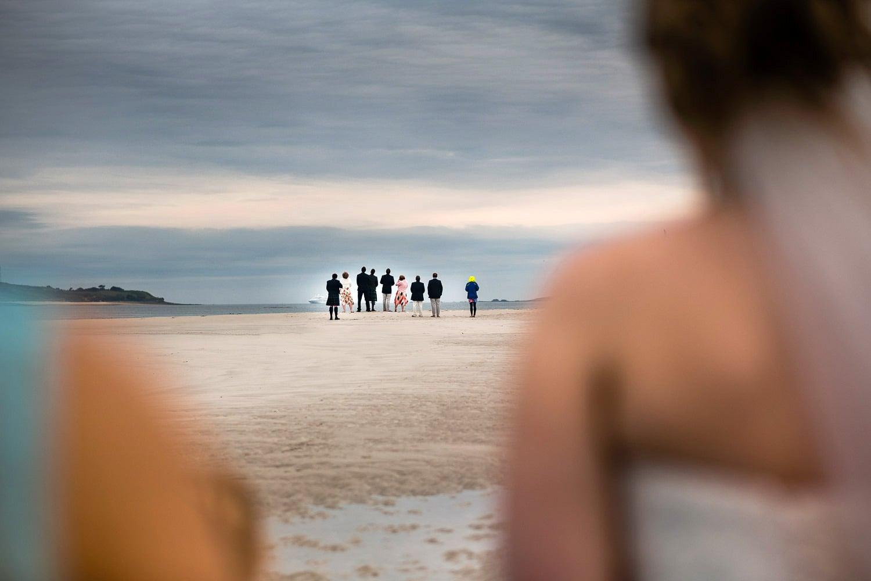 Sand island wedding, St Martins, Scilly
