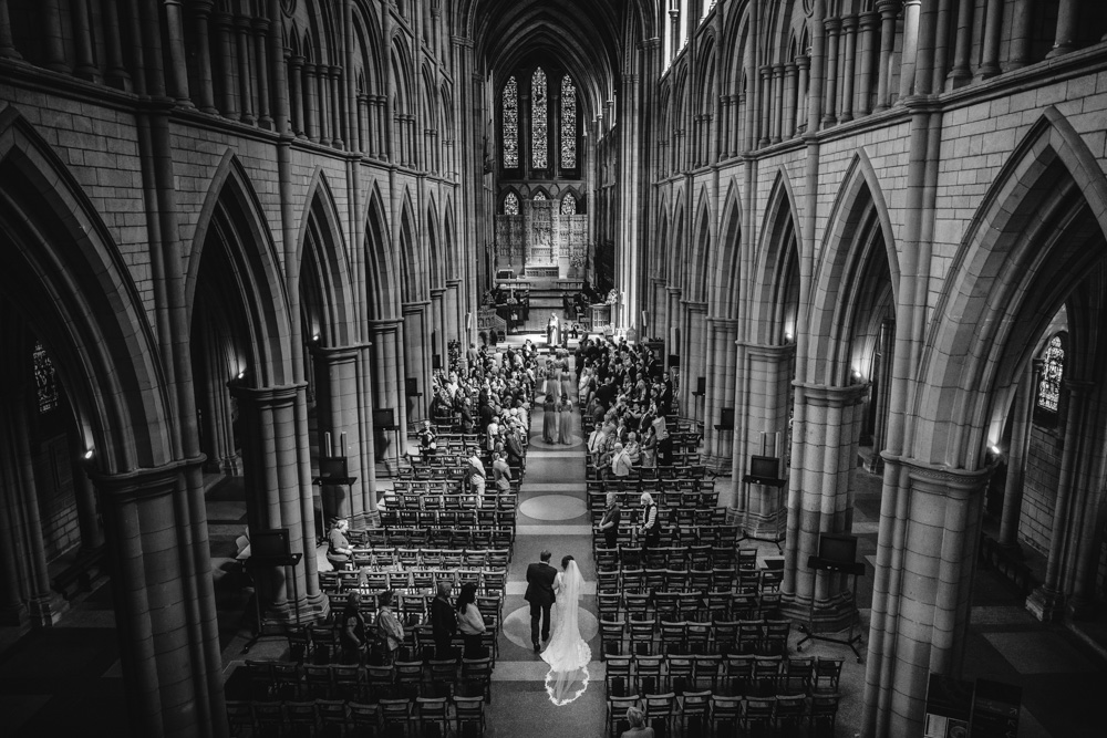 Wedding photo at Truro Cathedral