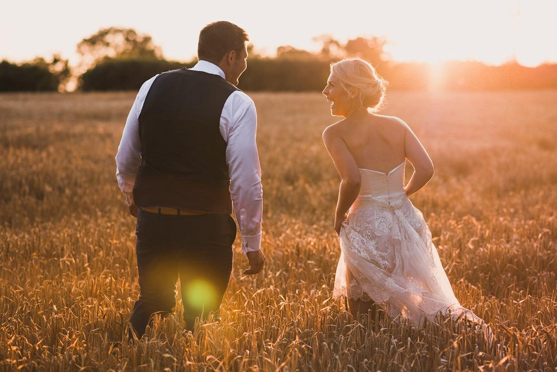 Sunset at Restronguet Barton wedding