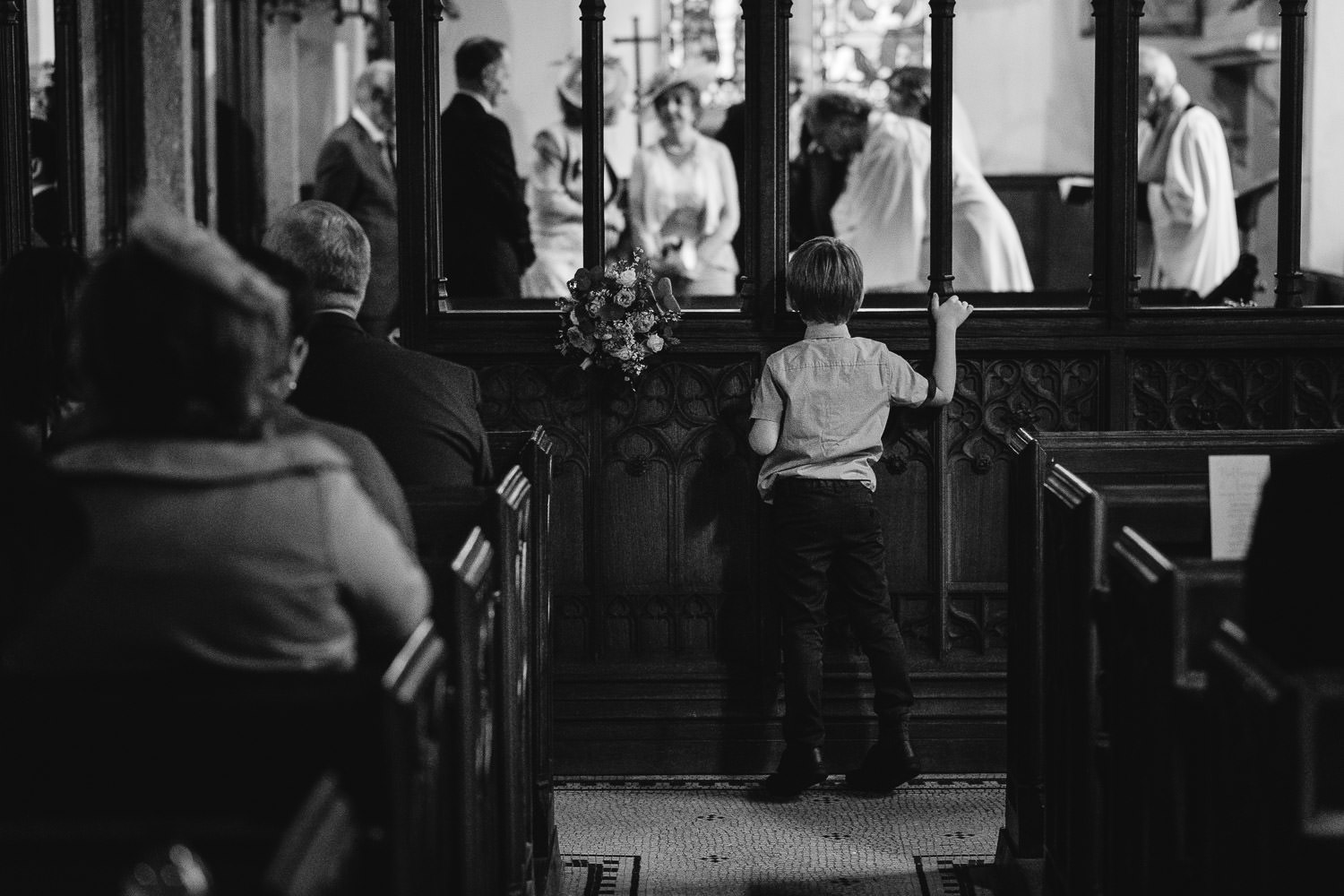 wedding ceremony at Gulval Church in Cornwall