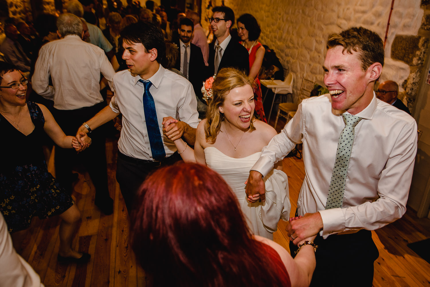 Ceilidh dance at Chypraze wedding