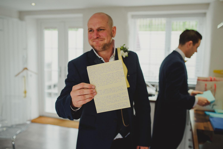 groom thank you card