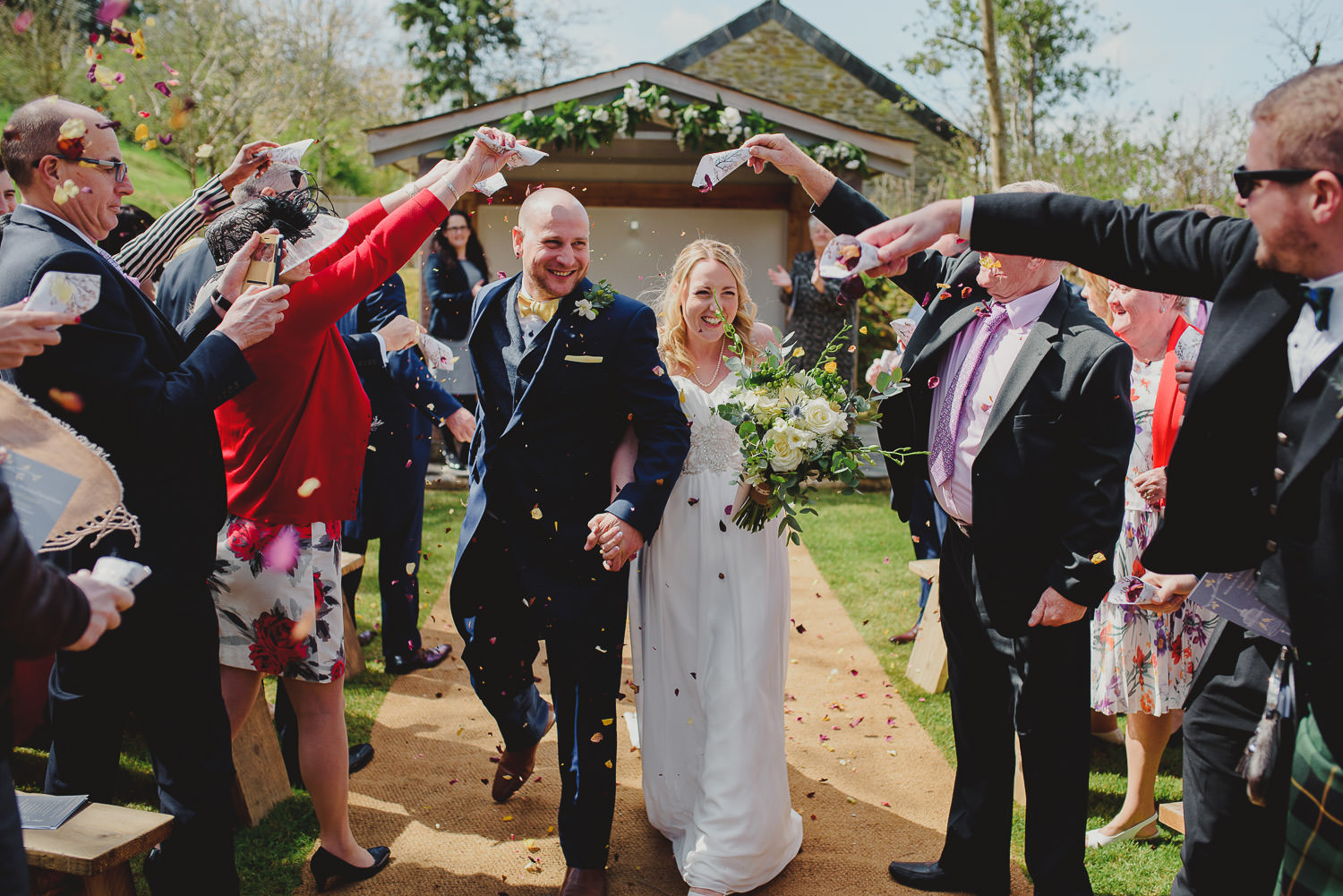 Outdoor wedding at Kilminorth Cottages