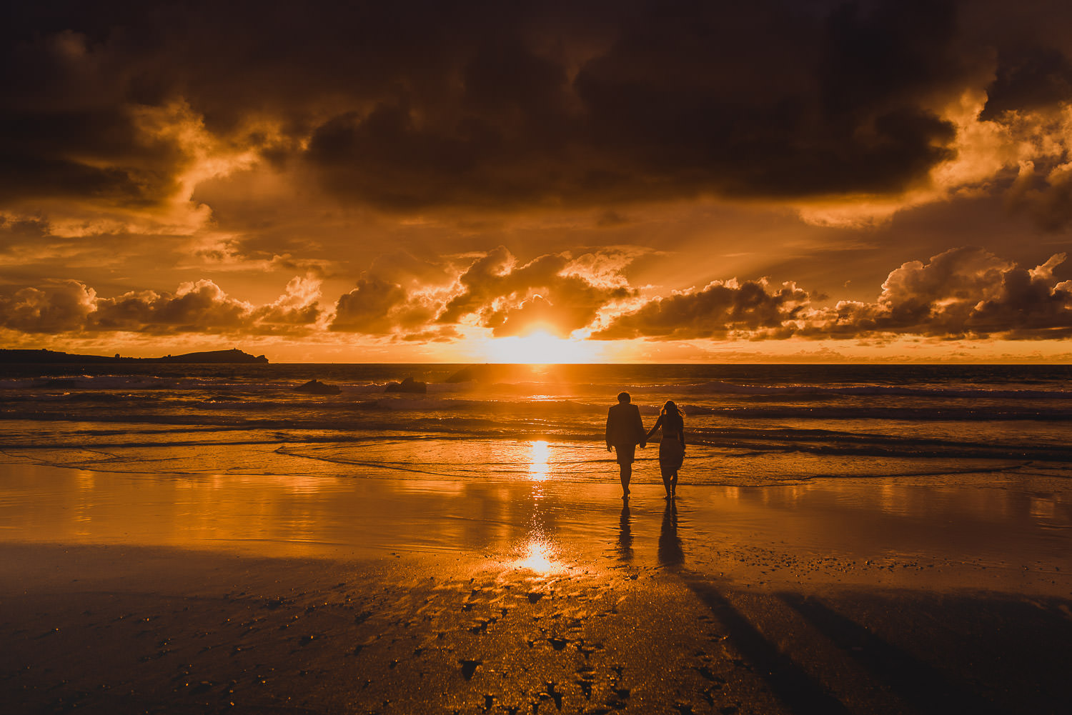 Sunset on your wedding day