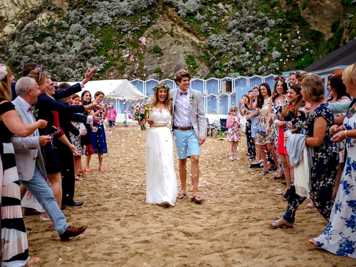 Wedding photos from Lusty Glaze wedding venue