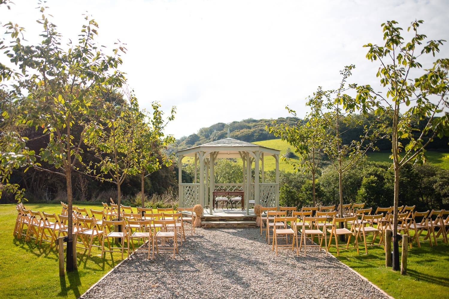 Pengenna Manor outdoor ceremony in Cornwall