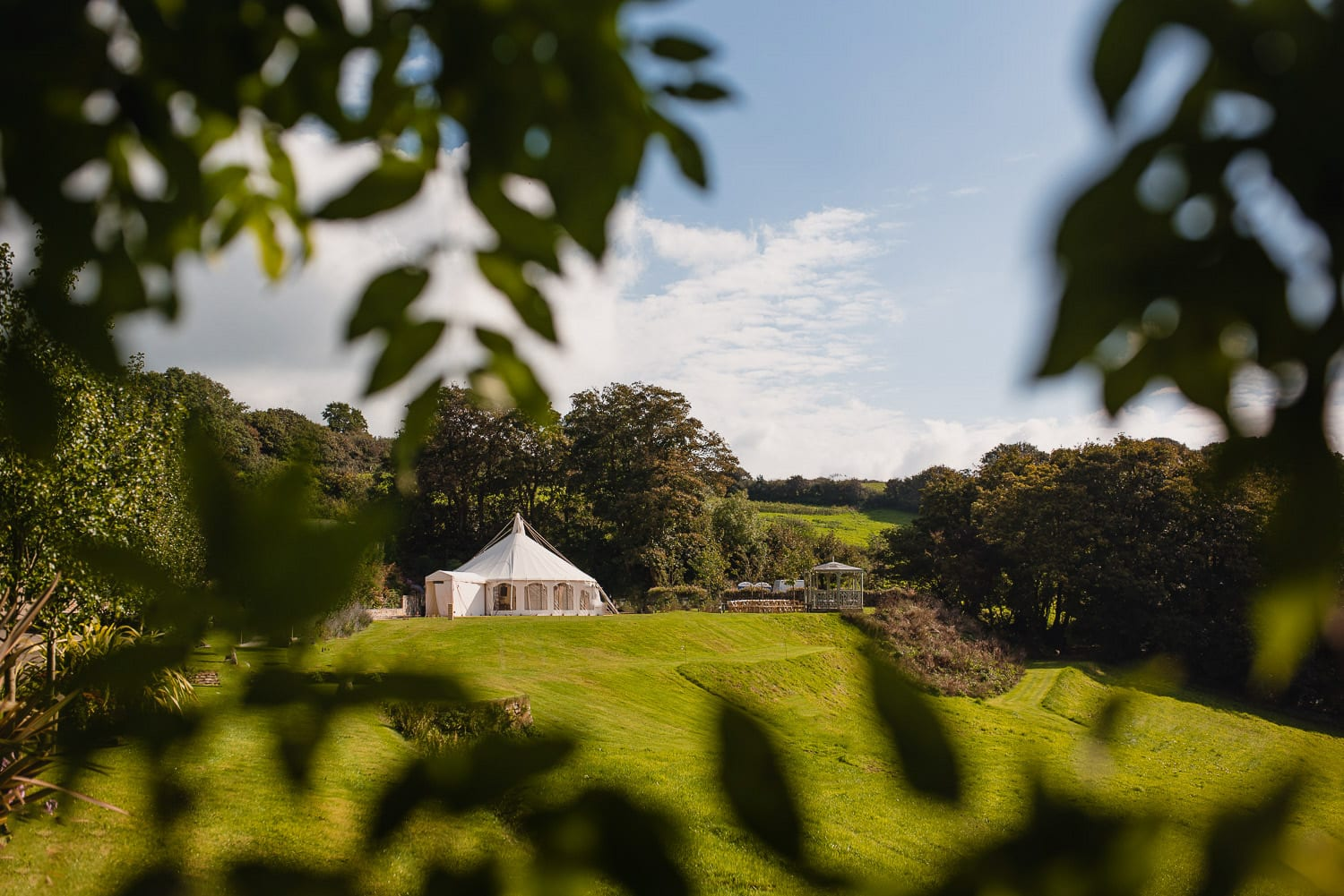 Small marquee wedding venue in Cornwall