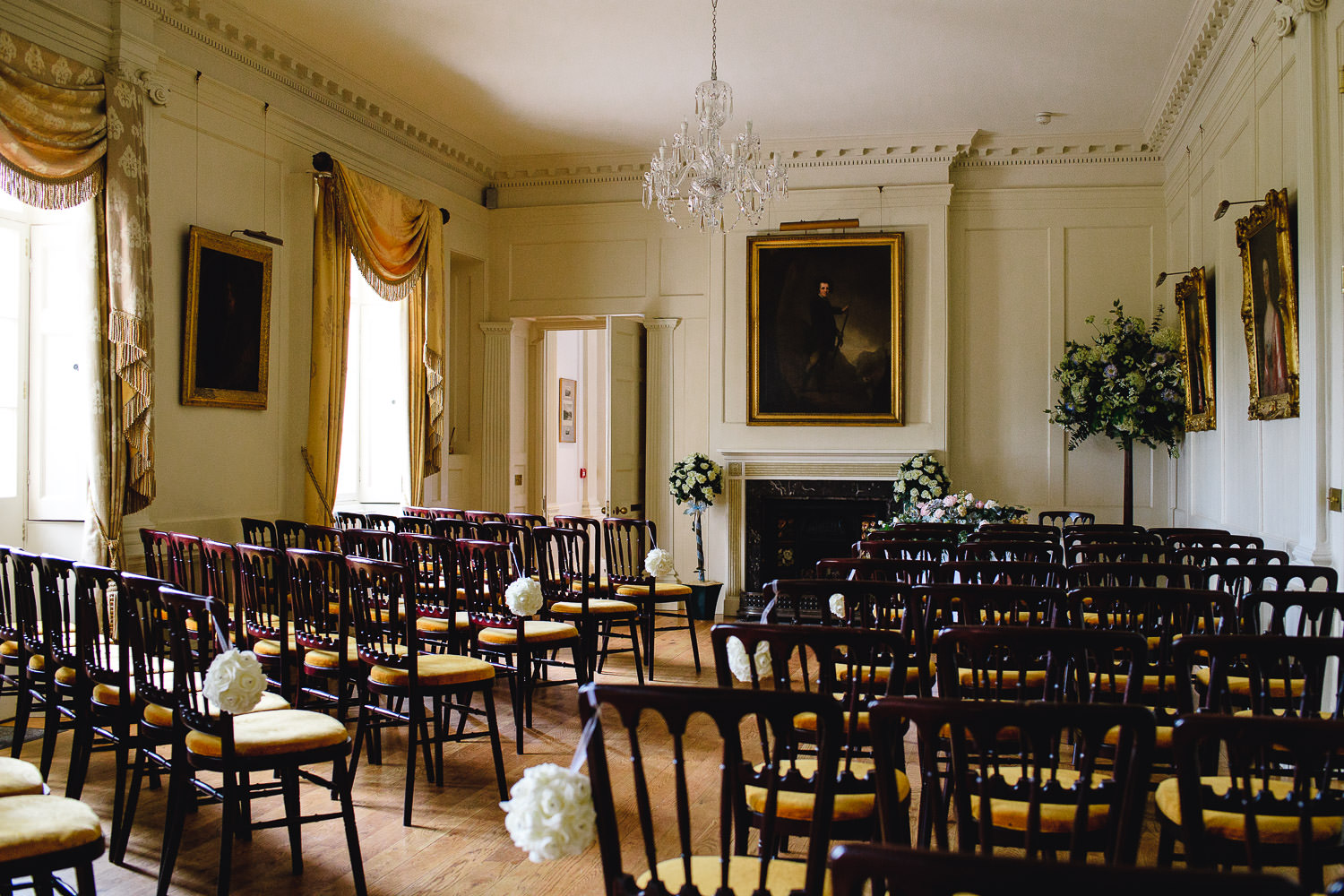 Wedding ceremony at pentillie castle