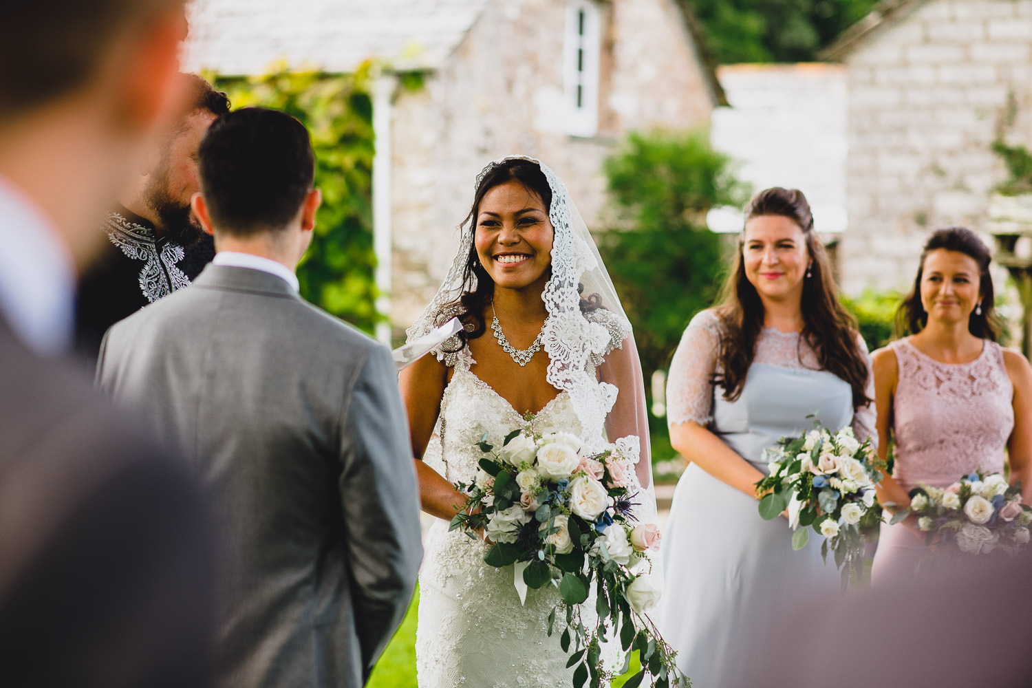 outdoor wedding ceremony in cornwall
