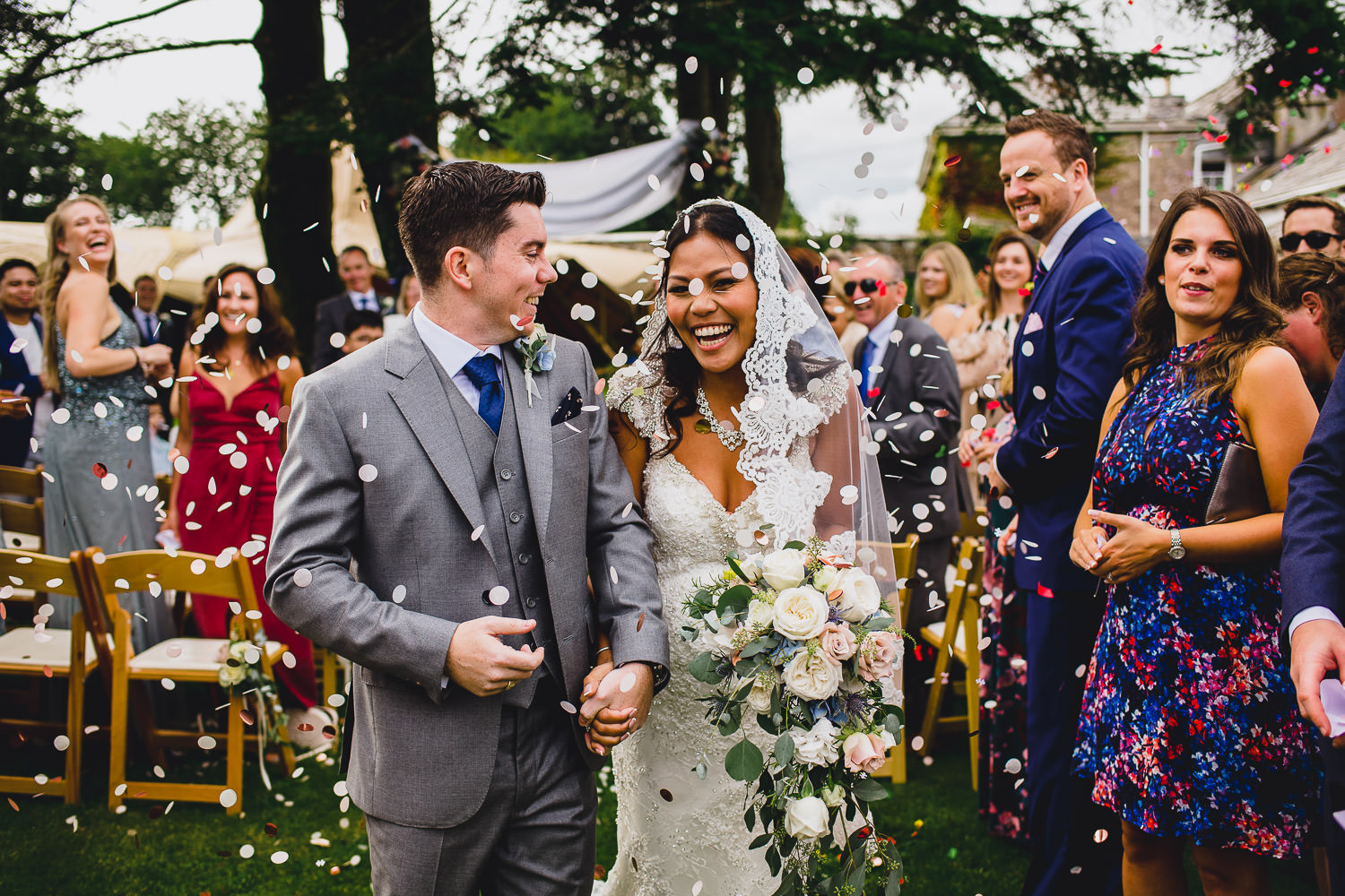 outdoor garden wedding Cornwall